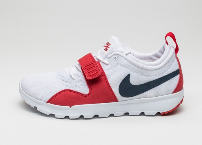 Мужские кроссовки Nike SB Trainerendor (White / Obsidian - University Red) | Интернет-магазин Sole