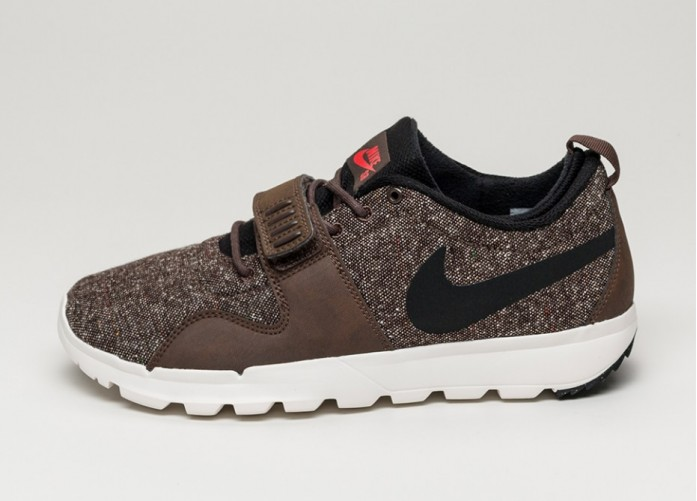Мужские кроссовки Nike SB Trainerendor (Baroque Brown / Black - Ivory - Light Crimson) | Интернет-магазин Sole