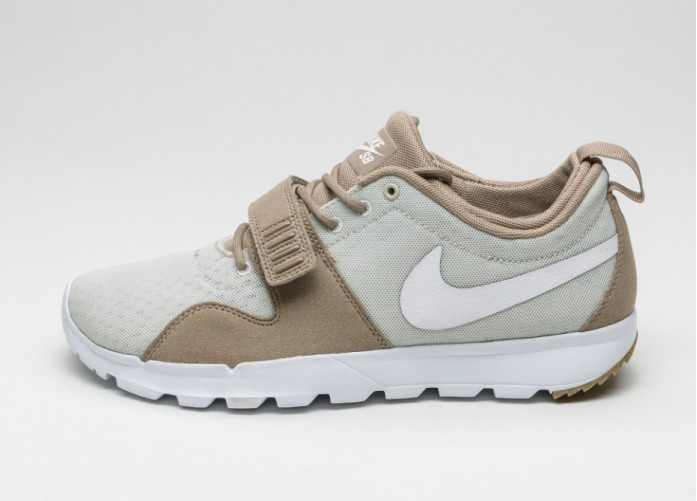 Мужские кроссовки Nike SB Trainerendor (Khaki / White - Light Bone - Gum Light Brown) | Интернет-магазин Sole