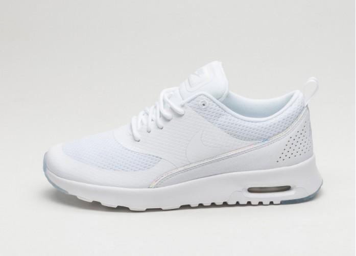 Мужские кроссовки Nike Wmns Air Max Thea PRM (White / White - Blue Tint) | Интернет-магазин Sole