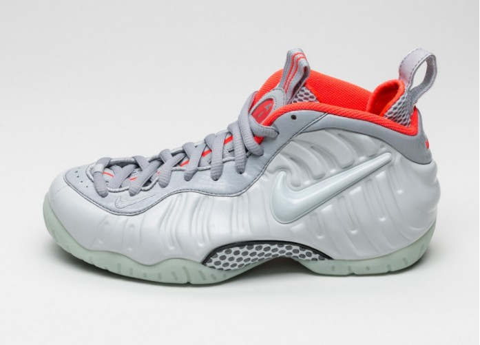 Мужские кроссовки Nike Air Foamposite Pro PRM (Pure Platinum / Pure Platinum - Wolf Grey) | Интернет-магазин Sole