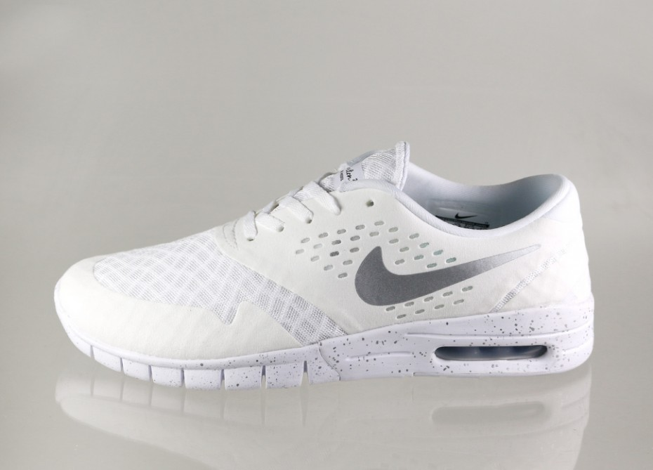 super popular 7cf3c 2e342 Мужские кроссовки Nike SB Eric Koston 2 Max (White   Metallic Silver - Black )