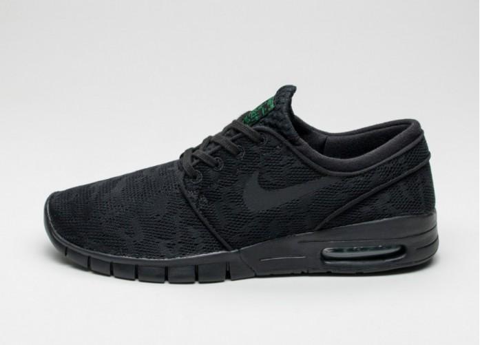 Мужские кроссовки Nike SB STEFAN JANOSKI MAX (Black / Black - Pine Green) | Интернет-магазин Sole
