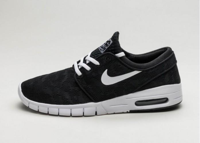 Мужские кроссовки Nike SB Stefan Janoski Max (Black / White) | Интернет-магазин Sole