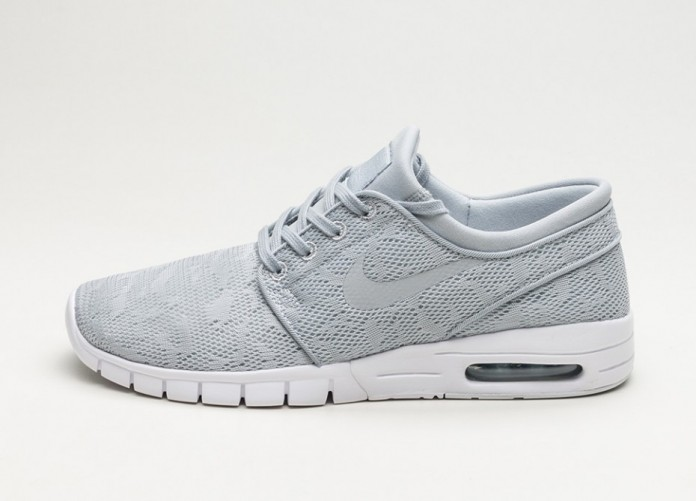 Мужские кроссовки Nike SB Stefan Janoski Max (Wolf Grey / Wolf Grey - University Red) | Интернет-магазин Sole