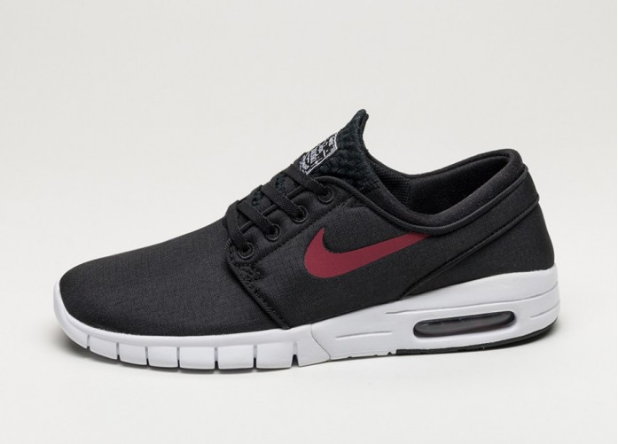Мужские кроссовки Nike SB Stefan Janoski Max (Black / Team Red - White) | Интернет-магазин Sole