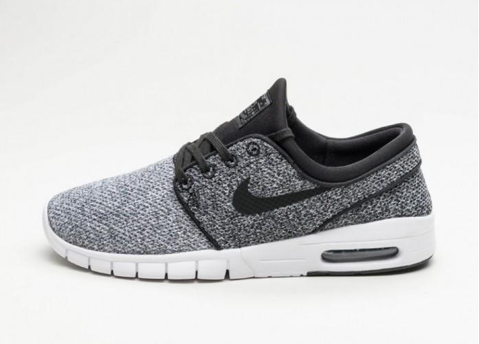 Мужские кроссовки Nike SB Stefan Janoski Max (White / Black - Dark Grey) | Интернет-магазин Sole