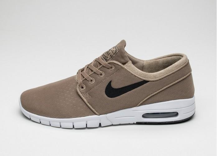 Мужские кроссовки Nike SB Stefan Janoski Max (Khaki / Black - White) | Интернет-магазин Sole
