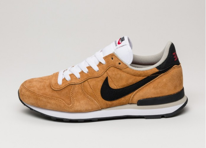 Мужские кроссовки Nike Internationalist Leather (Bronze / Black - Beige Chalk - White) | Интернет-магазин Sole