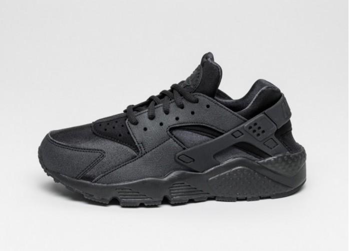 Мужские кроссовки Nike Wmns Air Huarache Run (Black / Black) | Интернет-магазин Sole