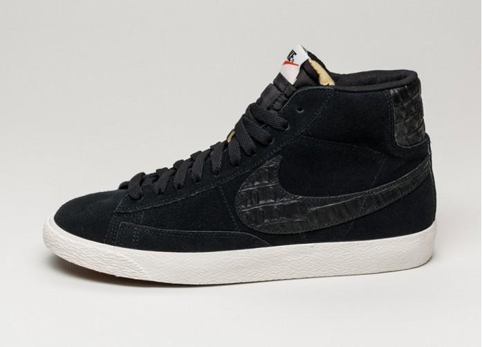 Мужские кроссовки Nike Blazer Mid Premium Vintage (Black / Black - Sail) | Интернет-магазин Sole