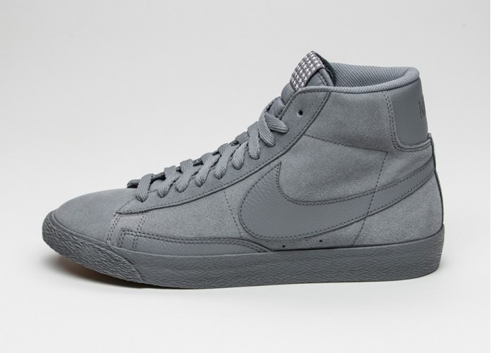 Мужские кроссовки Nike Blazer Mid Premium Vintage (Cool Grey / Cool Grey - Gum Light Brown) | Интернет-магазин Sole