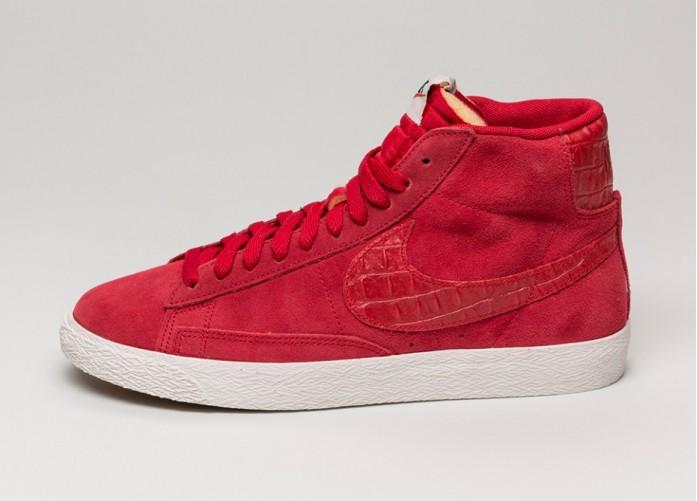 Мужские кроссовки Nike Blazer Mid Premium Vintage (Gym Red / Gym Red - Sail) | Интернет-магазин Sole