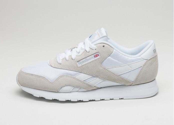Мужские кроссовки Reebok Classic Nylon (White / Light Grey) | Интернет-магазин Sole