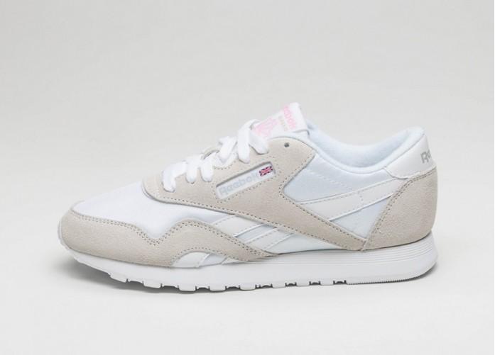 Мужские кроссовки Reebok Classic Nylon W (White / Light Grey) | Интернет-магазин Sole