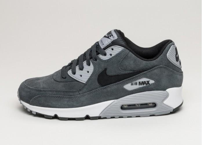 Мужские кроссовки Nike Air Max 90 LTR (Anthracite / Black - Wolf Grey - White) | Интернет-магазин Sole