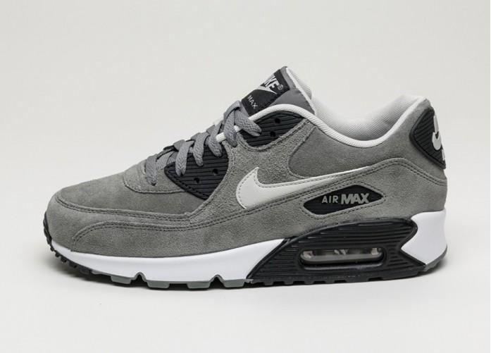 Мужские кроссовки Nike Air Max 90 LTR (Tumbled Grey / Night Silver - Black - White) | Интернет-магазин Sole