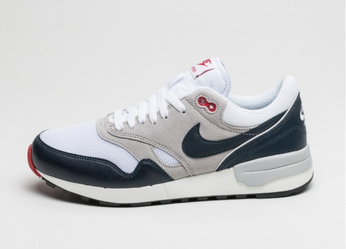 Мужские кроссовки Nike Air Odyssey (White / Dark Obsidian - Neutral Grey - University Red) | Интернет-магазин Sole