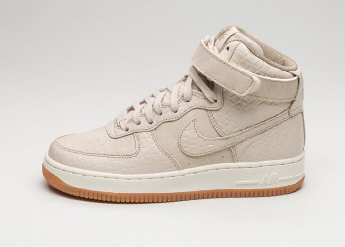 Женские кроссовки Nike Wmns Air Force 1 Hi PRM (Oatmeal / Oatmeal - Khaki - Sail) | Интернет-магазин Sole