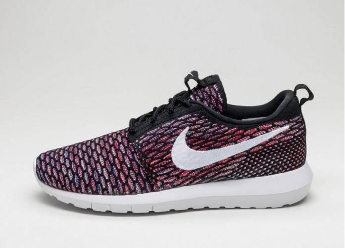 Мужские кроссовки Nike Roshe NM Flyknit (Black / University Red - Deep Royal Blue) | Интернет-магазин Sole
