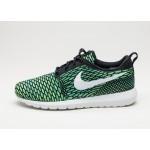 Мужские кроссовки Nike Roshe NM Flyknit (Black / White - Voltage Green - Volt), фото 1 | Интернет-магазин Sole