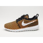 Мужские кроссовки Nike Roshe NM Flyknit (Black / White - Total Orange - Volt), фото 1 | Интернет-магазин Sole