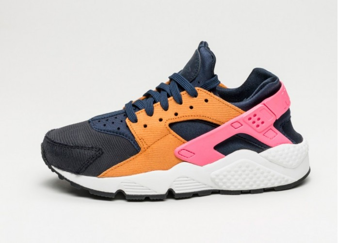Мужские кроссовки Nike Wmns Air Huarache Run PRM (Obsidian / Black - Sunset - Digital Pink) | Интернет-магазин Sole