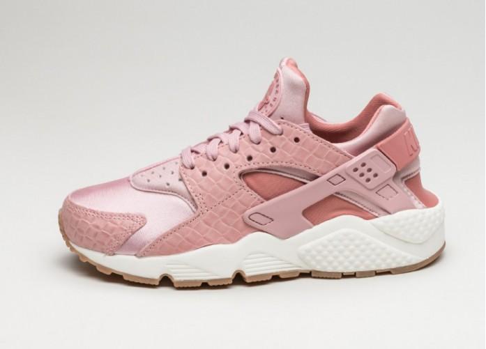Женские кроссовки Nike Wmns Air Huarache Run PRM (Pink Glaze / Pearl Pink - Sail - Gum Medium Brown) | Интернет-магазин Sole