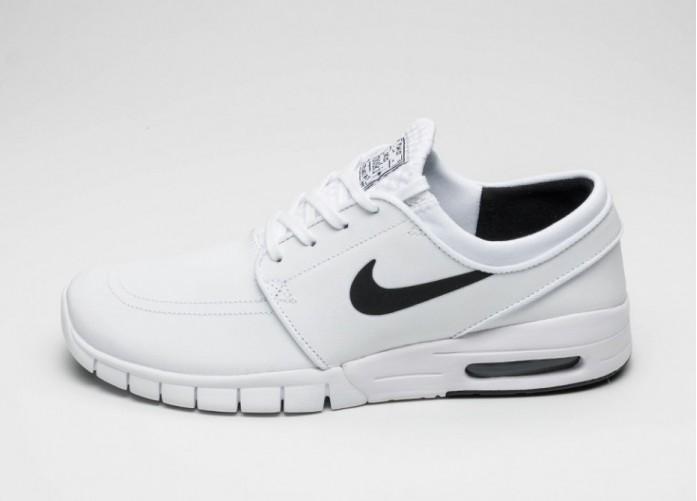 Мужские кроссовки Nike SB Stefan Janoski Max L (White / Black) | Интернет-магазин Sole