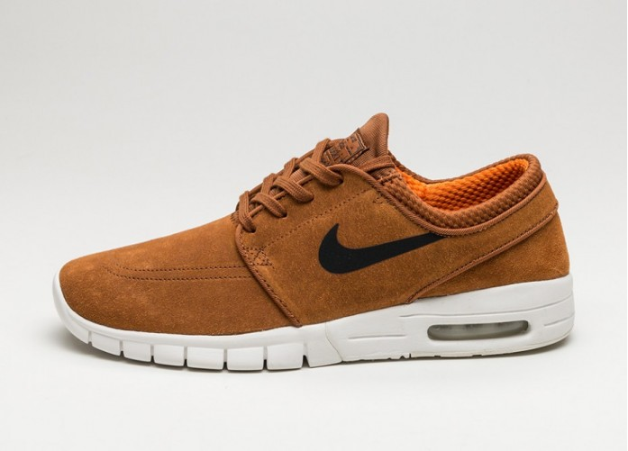 Мужские кроссовки Nike SB Stefan Janoski Max L (Hazelnut / Black - Ivory - Clay Orange) | Интернет-магазин Sole