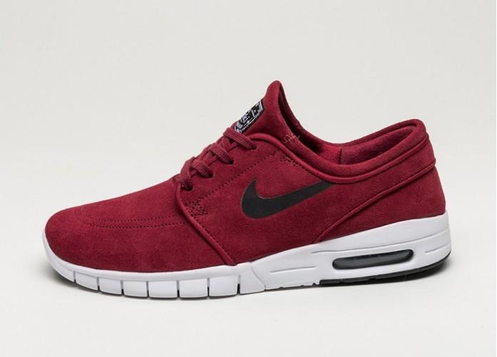 Мужские кроссовки Nike SB Stefan Janoski Max L (Team Red / Black - White) | Интернет-магазин Sole