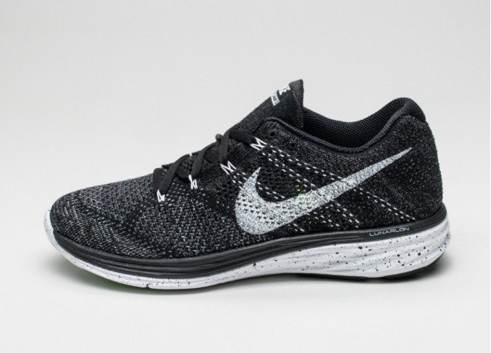 Мужские кроссовки Nike Flyknit Lunar3 (Black / White / Midnight Fog / Wolf Grey) | Интернет-магазин Sole