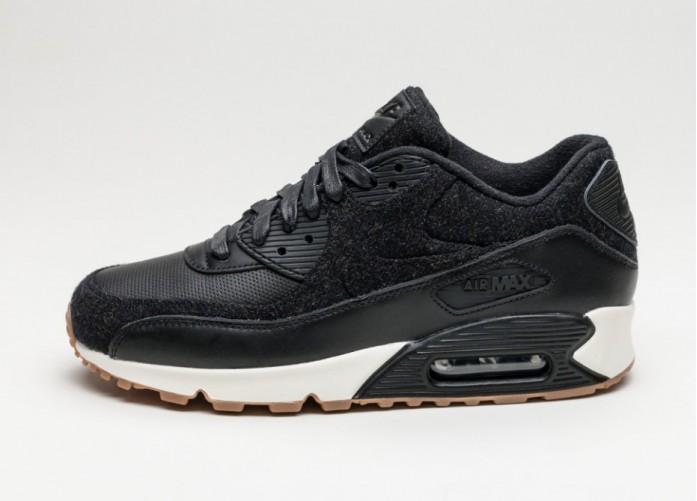 Мужские кроссовки Nike Air Max 90 PRM (Black / Black - Black - Sail) | Интернет-магазин Sole