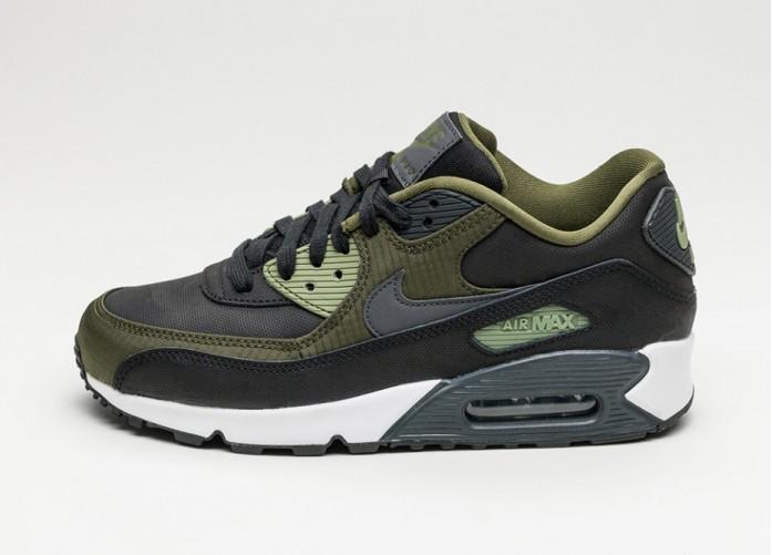 Мужские кроссовки Nike Air Max 90 PRM (Black / Anthracite - Legion Green - Palm Green) | Интернет-магазин Sole