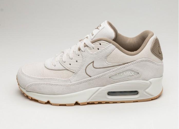 Мужские кроссовки Nike Air Max 90 PRM (Phantom / Phantom - Khaki - Sail) | Интернет-магазин Sole