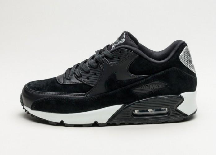 Мужские кроссовки Nike Air Max 90 Premium *Skulls* (Black / Black - Off White) | Интернет-магазин Sole