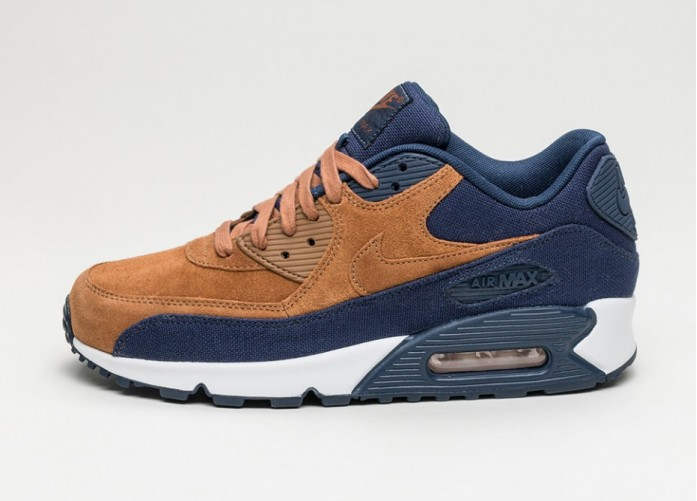 Мужские кроссовки Nike Air Max 90 PRM (Ale Brown / Ale Brown - Midnight Navy - Sail) | Интернет-магазин Sole