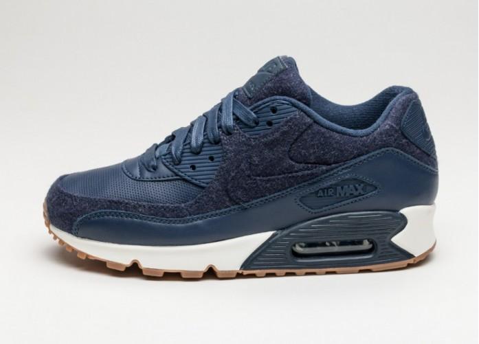 Мужские кроссовки Nike Air Max 90 PRM (Midnight Navy / Midnight Navy) | Интернет-магазин Sole