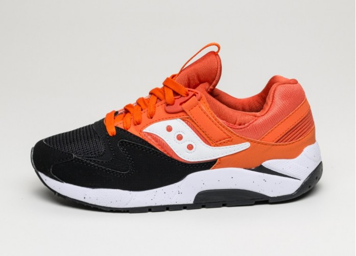 Мужские кроссовки Saucony Grid 9000 *Hallowed Pack* (Black / Orange) | Интернет-магазин Sole