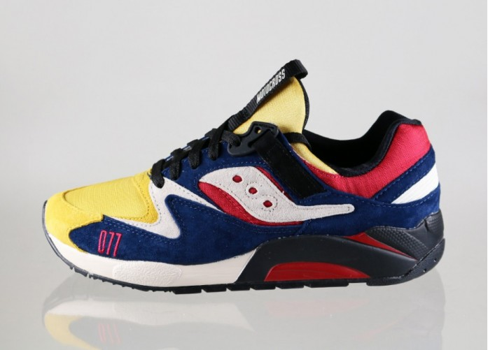 Мужские кроссовки Saucony x Play Cloths Grid 9000 *Motocross* (Yellow / Navy / White) | Интернет-магазин Sole