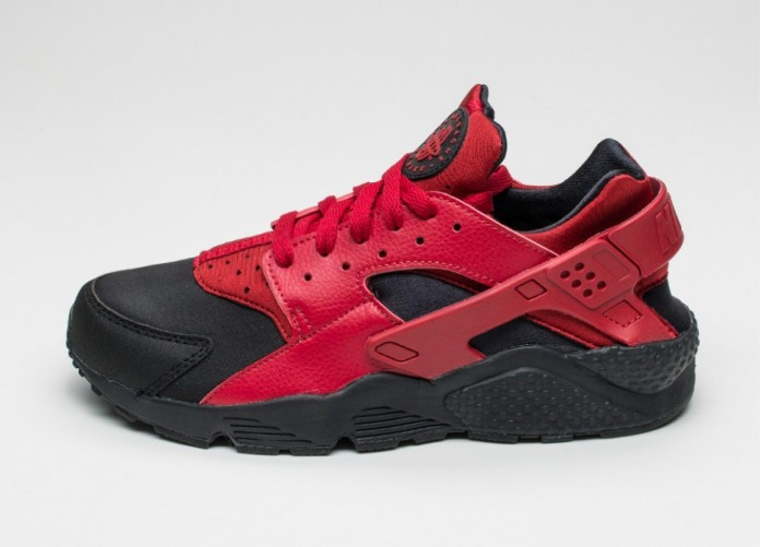 Мужские кроссовки Nike Air Huarache Run PRM (Black / Gym Red - Gym Red) | Интернет-магазин Sole