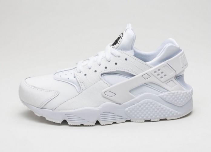 Мужские кроссовки Nike Air Huarache Run PRM (White / White - Black)   Интернет-магазин Sole