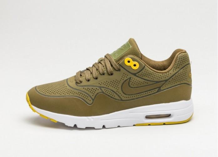 Мужские кроссовки Nike Wmns Air Max 1 Ultra Moire (Olive Flak / Olive Flak - Bright Citron) | Интернет-магазин Sole