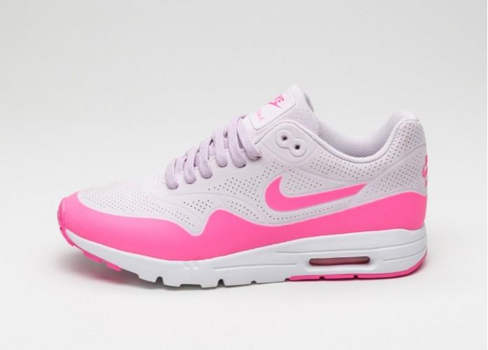 Мужские кроссовки Nike Wmns Air Max 1 Ultra Moire (Bleached Lilac / Pink Blast - White) | Интернет-магазин Sole