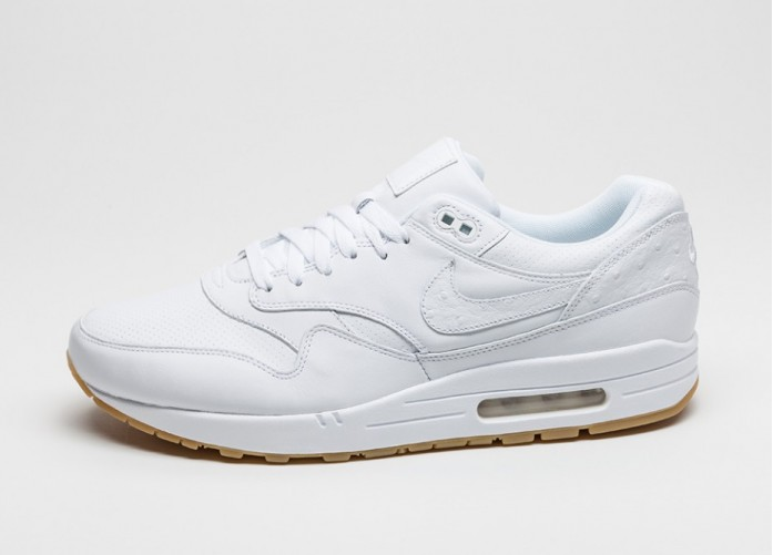 Мужские кроссовки Nike Air Max 1 Leather PA (White / White - Gum Light Brown) | Интернет-магазин Sole