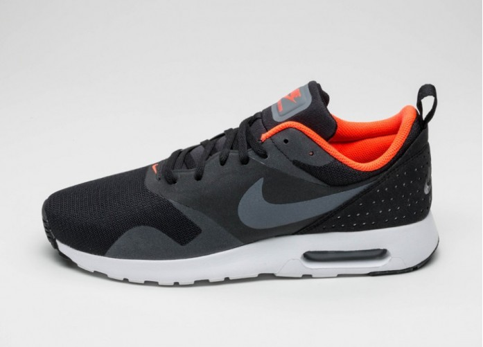 Мужские кроссовки Nike Air Max Tavas (Black / Dark Grey - Total Crimson - White) | Интернет-магазин Sole