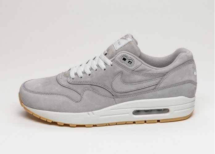 Мужские кроссовки Nike Air Max 1 LTR Premium (Medium Grey / Medium Grey - Neutral Grey) | Интернет-магазин Sole