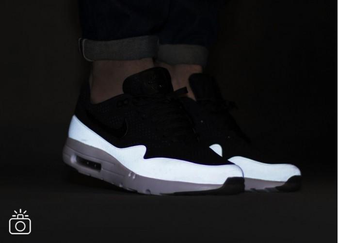 Мужские кроссовки Nike Air Max 1 Ultra Moire (Black / Black - White) | Интернет-магазин Sole