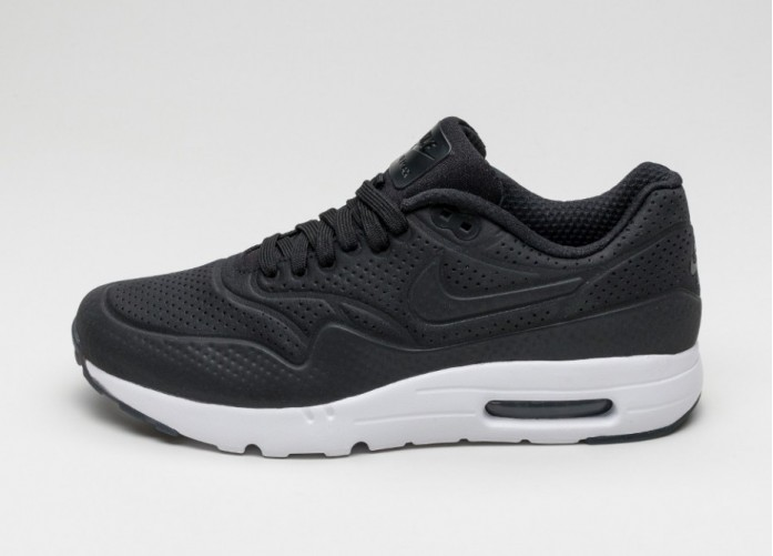 Мужские кроссовки Nike Air Max 1 Ultra Moire (Black / Black - White) | Интернет-магазин Sole