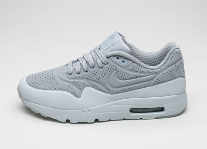 Мужские кроссовки Nike Air Max 1 Ultra Moire (Wolf Grey / Wolf Grey - Pure Platinum) | Интернет-магазин Sole